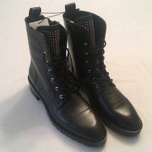 NWT, Leather Zara Combat Boots, Size 11